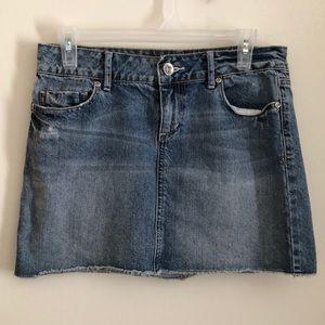 Apt. 9 Distressed Denim Mini Skirt